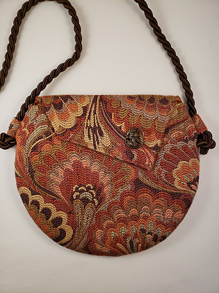 Art Deco Orange-lined Bag