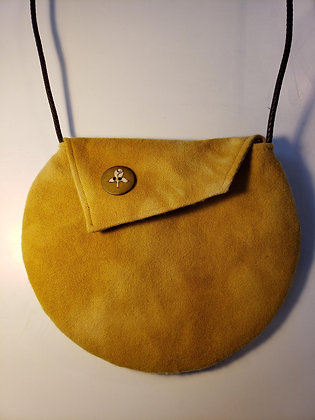 Naturally Dyed Round Crossbody