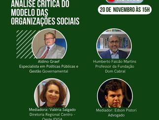 ANÁLISE CRÍTICA DO MODELO DAS ORGANIZAÇÕES SOCIAIS