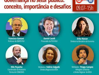 LIVE |AO VIVO| GOVERNANÇA   NO SETOR PÚBLICO: CONCEITO, IMPORTÂNCIA E DESAFIOS