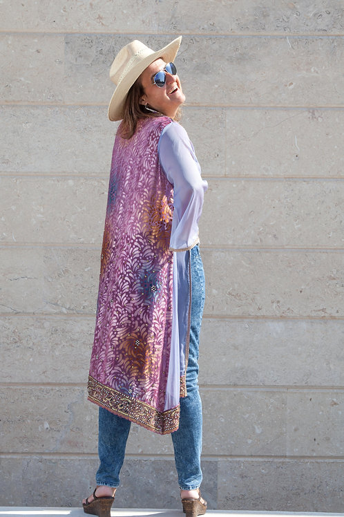 Sari Jacket: Lilac Jewels
