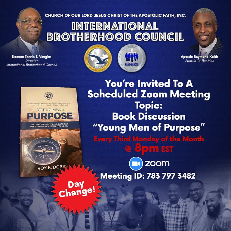 """""""Young Men of Purpose"""" Book Discussion"""