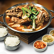 Pork Bone Hot Pot (Spicy option)