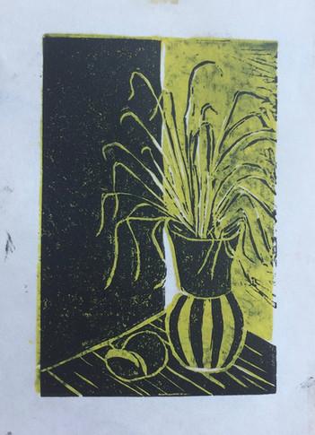 Yellow and Black Vase