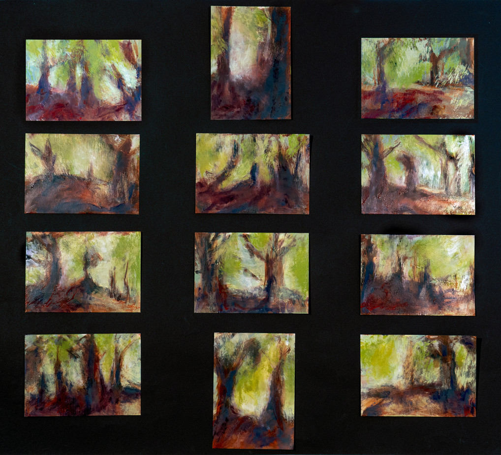 Postcard Paintings of The Misty Glade