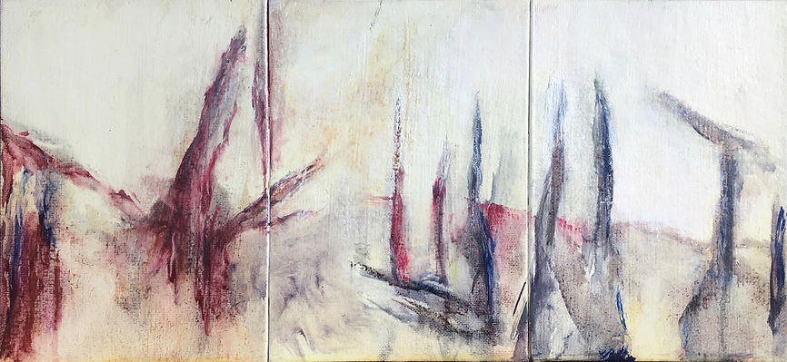 The Life of Spring, triptych, oil on can