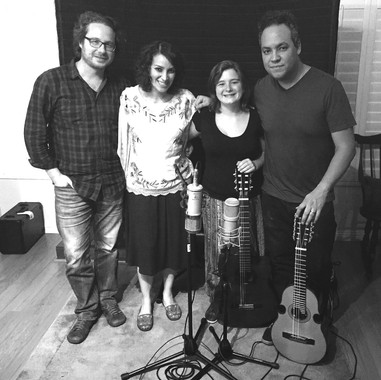 Dominique Hunziquer sessions with Gaby Moreno and Sebastian Aymanns.