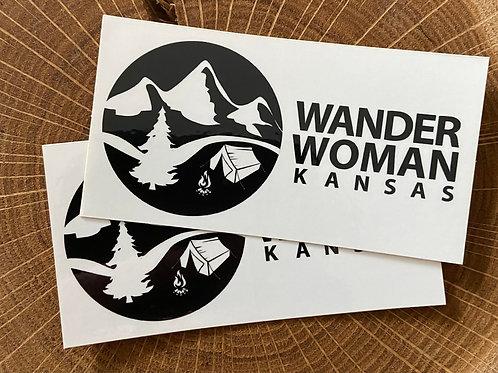 Wander Woman Kansas Rectangle Sticker