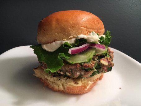 Award-Winning Grilled Feta and Spinach Pheasant Burger Recipe