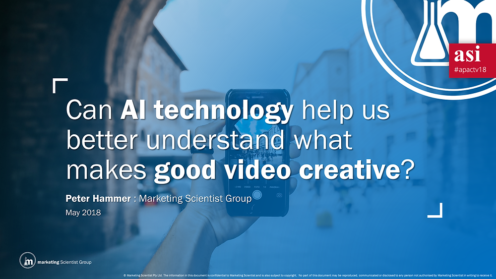 Can Al Technology help us better understand what makes good video creative?