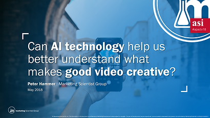 AI technology and video creative