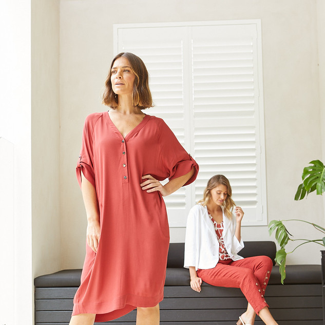 Short Sleeve Everyday Dress  495562 - $129.95  Sleeveless Giraffe Print Top  495317 - $109.95