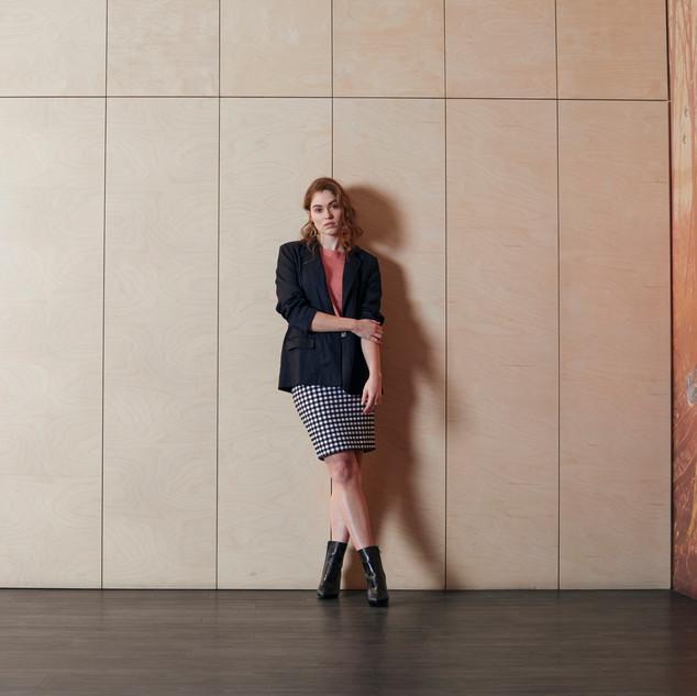 Short Sleeve Pullover  485018 - $199.00   Single Breasted Blazer  485423 - $199.00   Pull On Gingham Skirt  485605 - $99.95