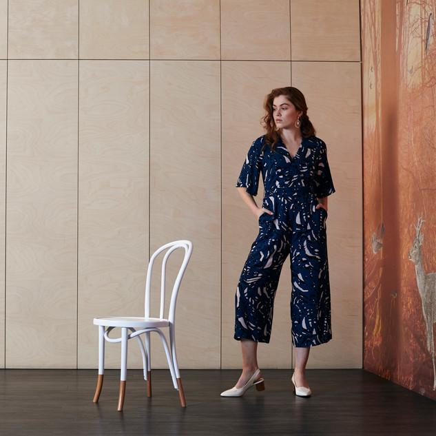 Flutter Sleeve Pop Art Print Jumpsuit  485900 - $169.00