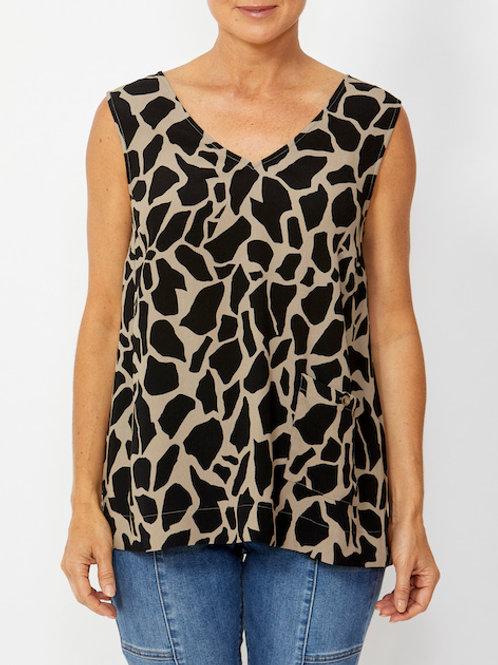 Sleeveless Giraffe Print Top