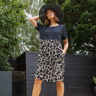Spliced Giraffe Print Dress  495509 - $139.95