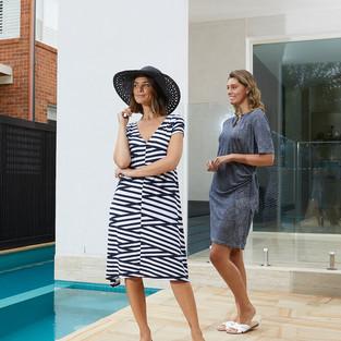 Cap Sleeve Stripe Dress  495530 - $119.95