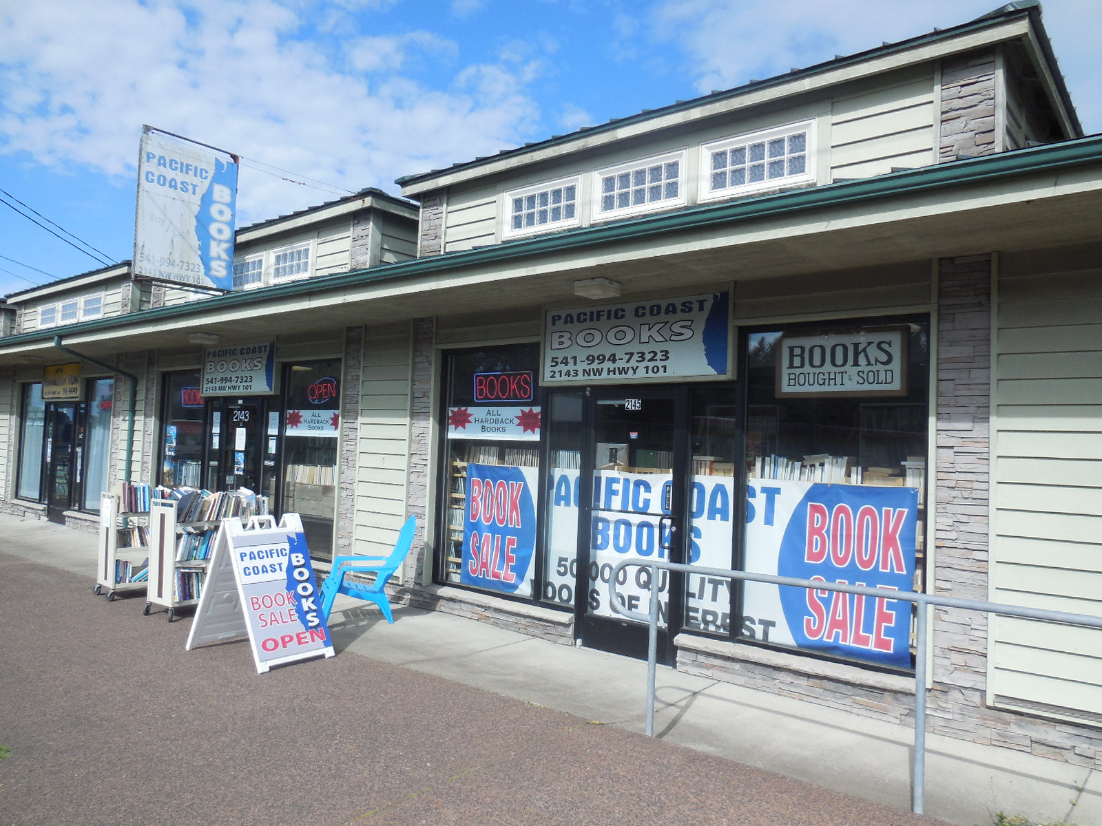 Pacific Coast Books Store Front