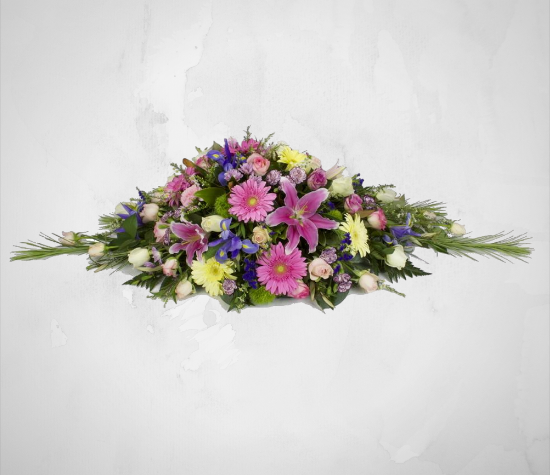 Mixed Pink Casket Sheaf