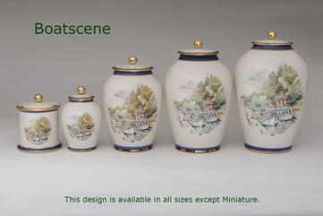 Boatscene Urns