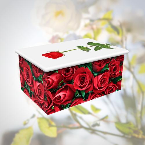 Red Roses Urn