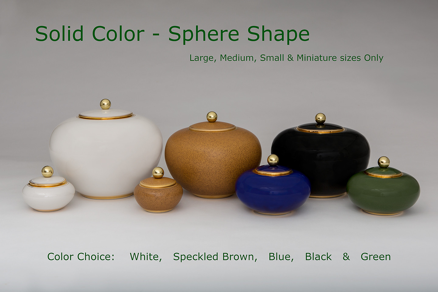 Solid Colour Sphere Urns