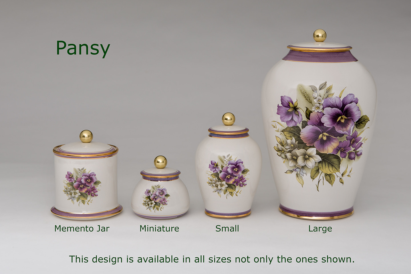 Pansy Urns