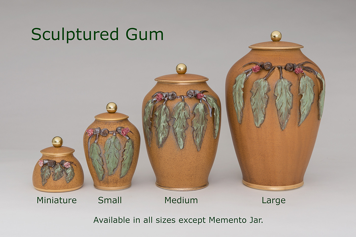 Sculptured Gum Urns