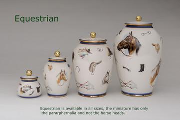 Equestrian Urns