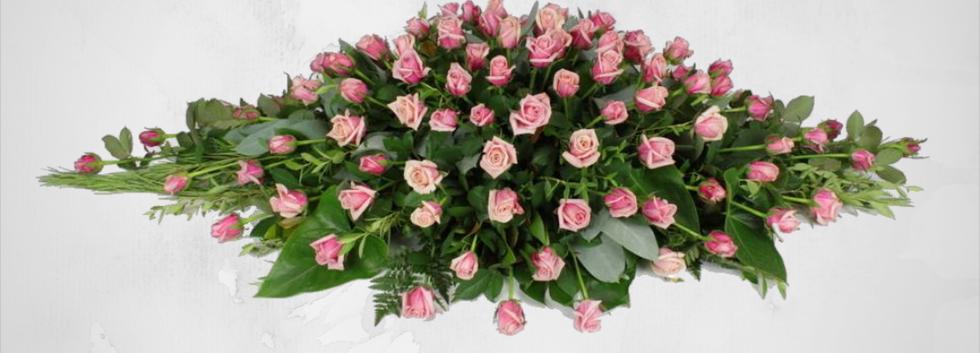 Pink Roses Casket Sheaf