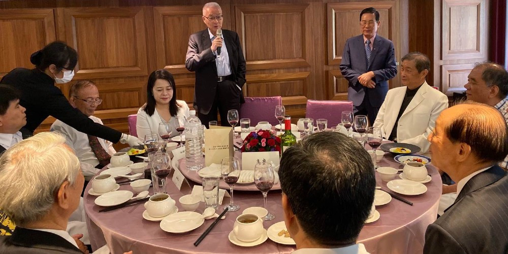 前副總統吳敦義特別撥冗蒞臨指教並出席餐會,賓主盡歡。