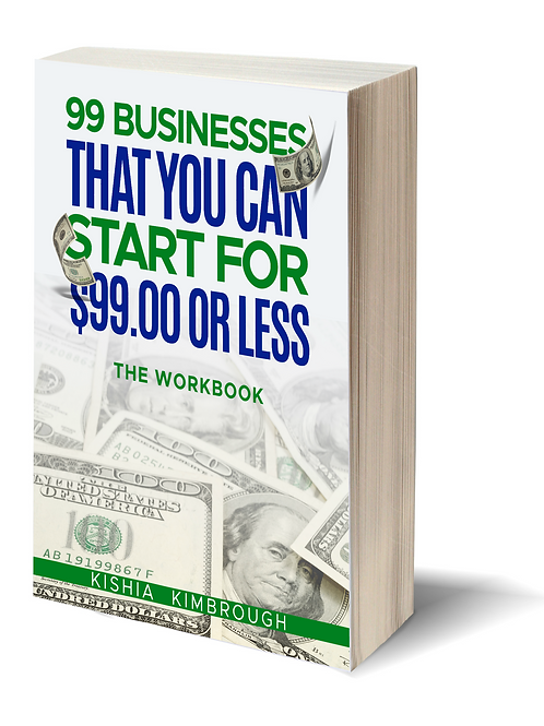 99 Businesses That You Can Start For $99.00 or LESS (Workbook)