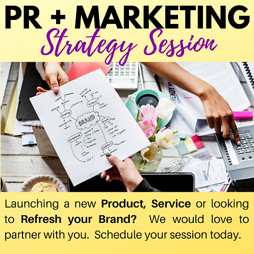 1-on-1 PR + Marketing Strategy Session
