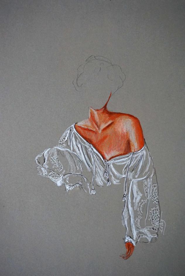 Etude de blouse I