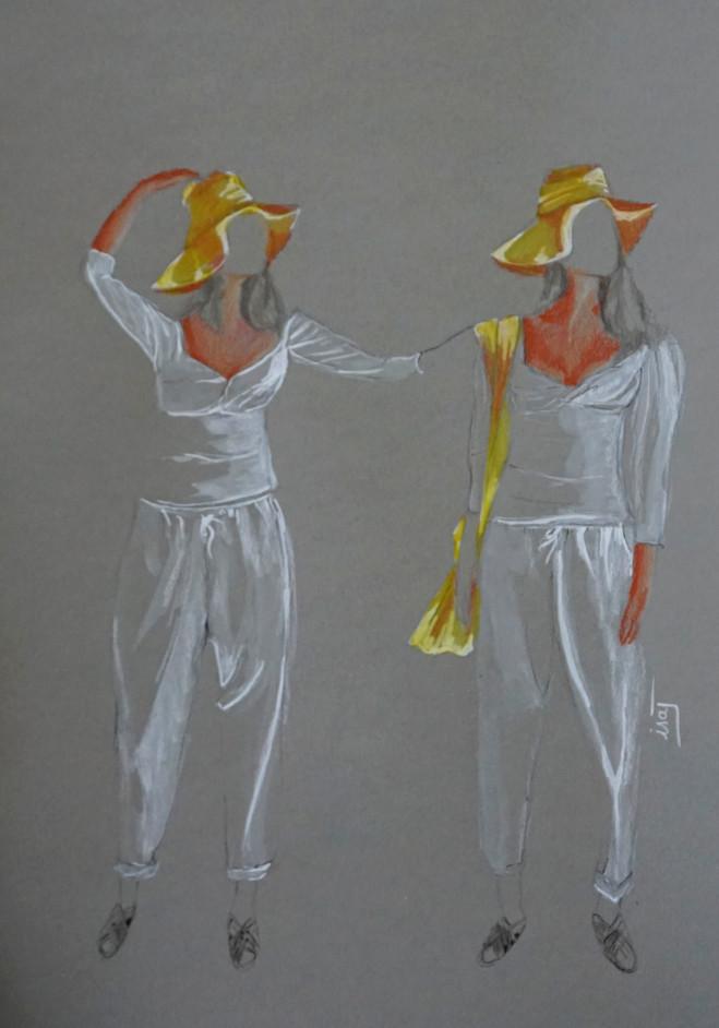 duo Yoli&Otis blanc et jaune