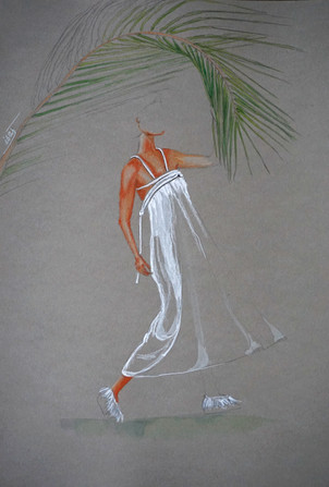 silhouette Electric feathers et palmier