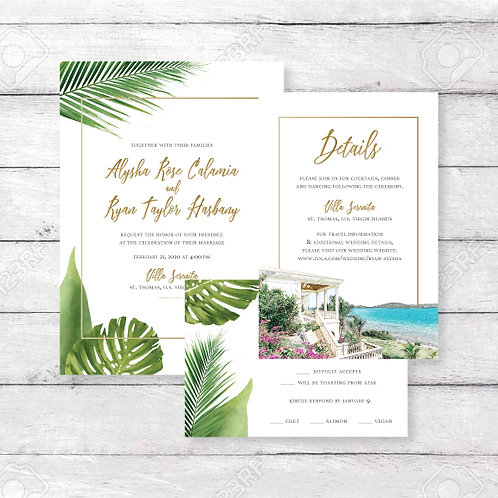 Tropical Wedding Invitation (Set of 125)