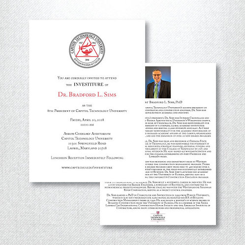 CTU Investiture Invitation & Enclosure (Set of 400)