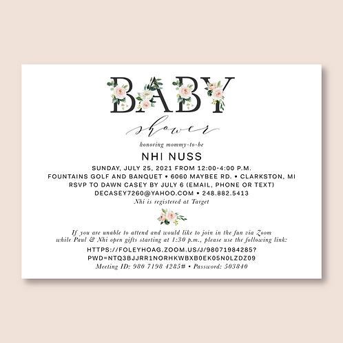 Nuss Baby Shower (Set of 40)