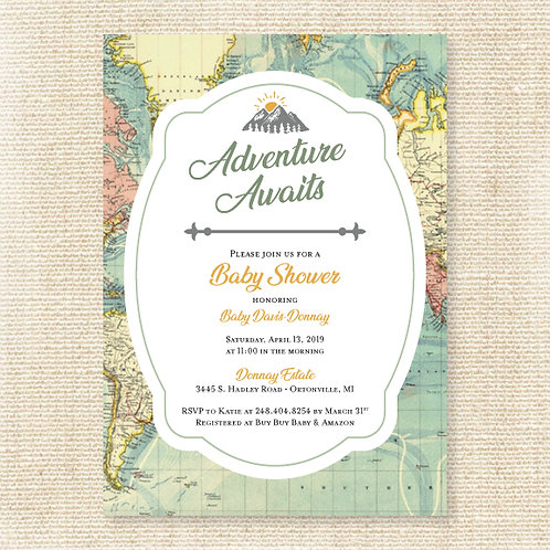 Adventure Awaits Baby Shower (Set of 35)