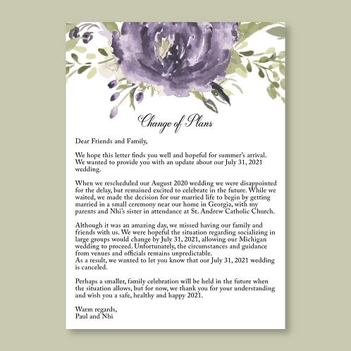 Floral Change of Plans (Set of 80)