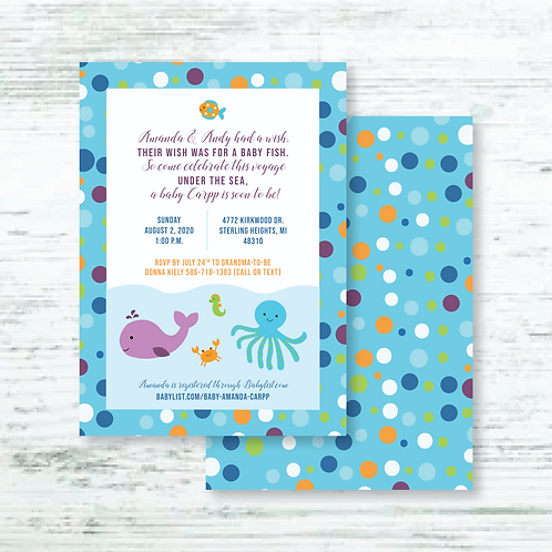 Under the Sea Baby Shower (Set of 55)
