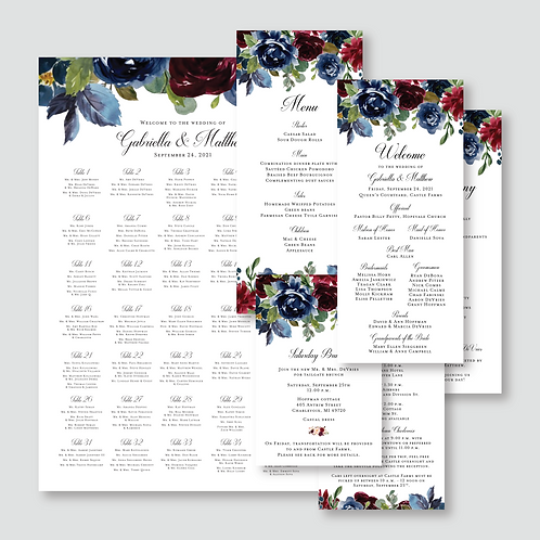DeVries Wedding Signage (625 Pieces + Seating Chart)