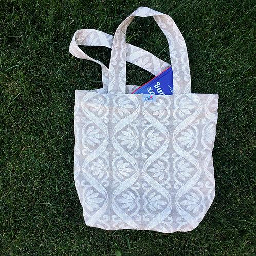 Лляна еко сумка з абстрактним візерунком