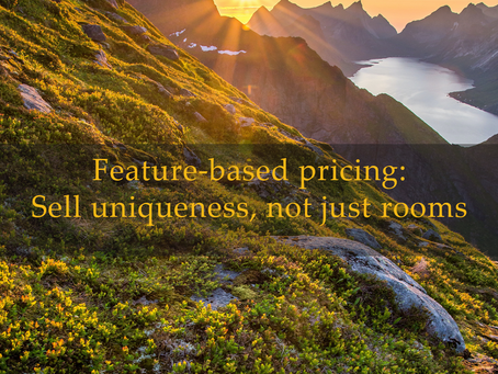 Feature-based pricing: Sell uniqueness, not just rooms
