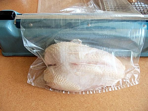impulse sealer for poultry in shrink bags
