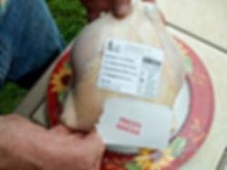 poultry shrink bag freezer label