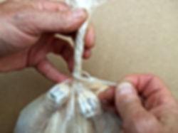 zip tie on poultry shrink bag