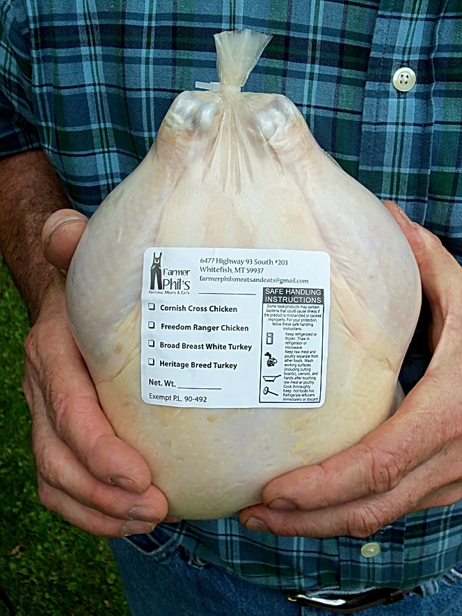 nicely packaged chicken in poultry shrink bag