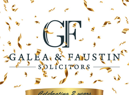 Celebrating two years at Galea & Faustin Solicitors